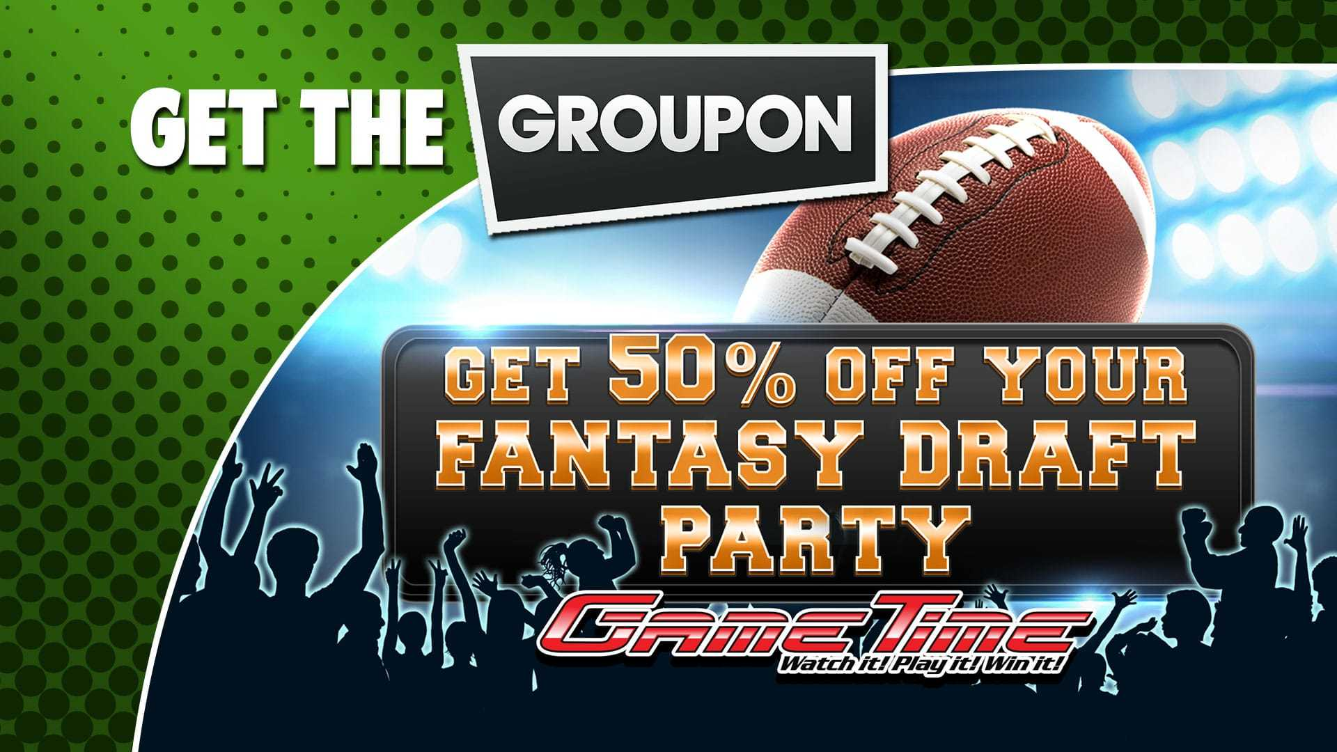 GameTime Fantasy Football Draft Party Deal on Groupon