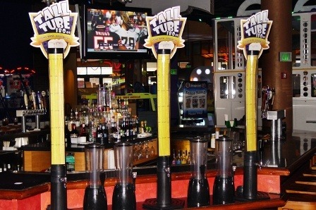 "GameTime's Tall Tube is 180 Ounces of Beer, Served Cold and Foaming. ""More Body. Less Head"""