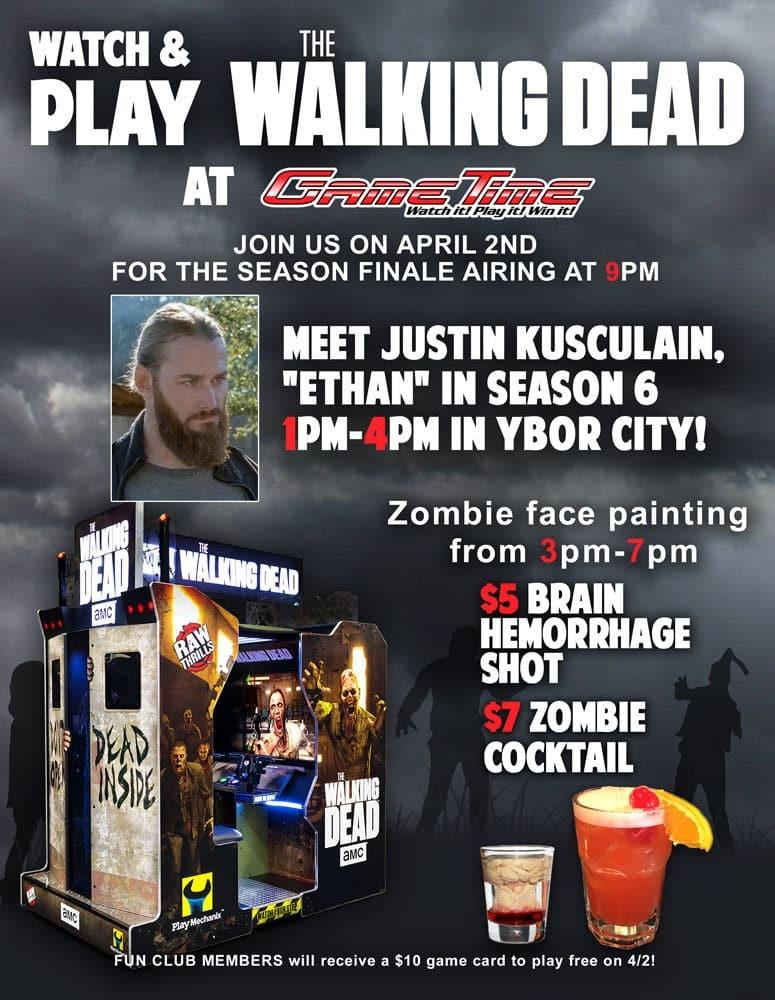 Watch and play the Walking Dead at GameTime meet Justin Kusculain in ybor city