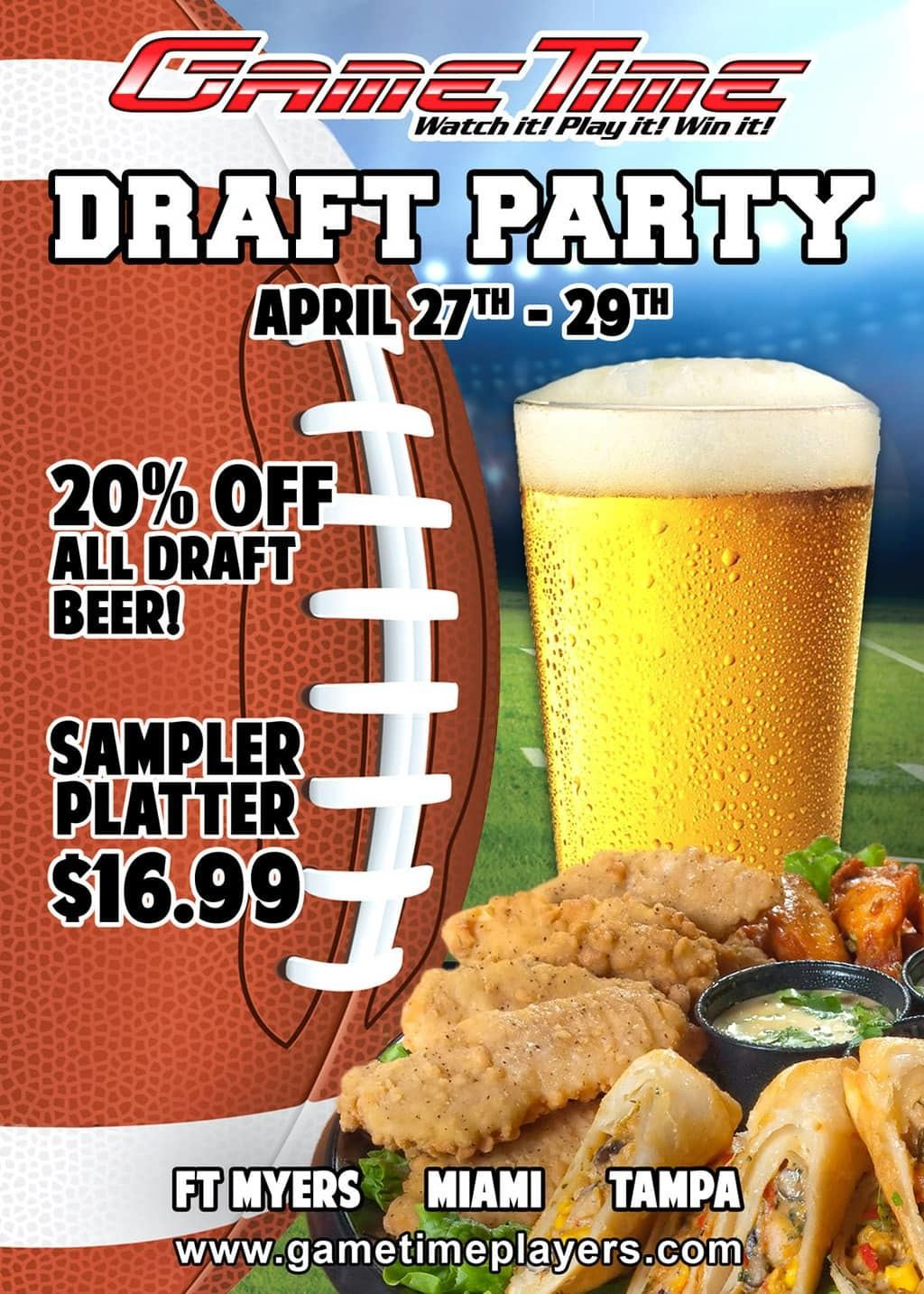 NFL-Draft-Draught-Party-at-GameTime-Sports-Bar-Miami-Tampa-Fort-Myers