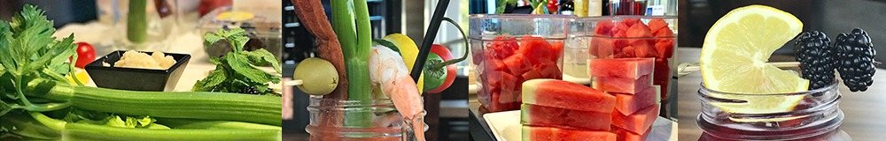 GameTime Summer cocktails Watermelon Bloody Mary Surf and turf garnish