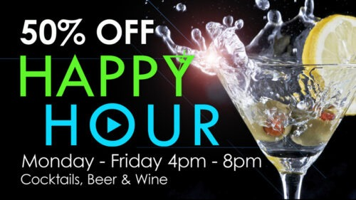 GameTime Happy Hour deal cocktails beer wine Daytona Fort Myers Miami Ocoee Tampa
