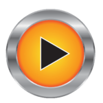 GameTime arcade orange play button logo