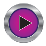 GameTime arcade purple play button logo
